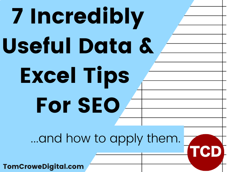 data excel tips for seo