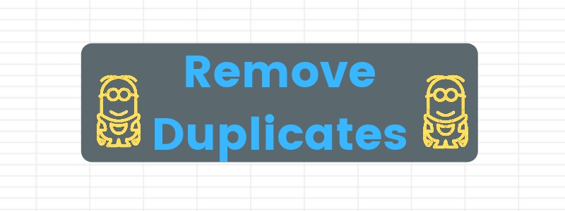 Remove duplicates function