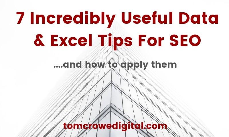 Data & Excel tips for SEO