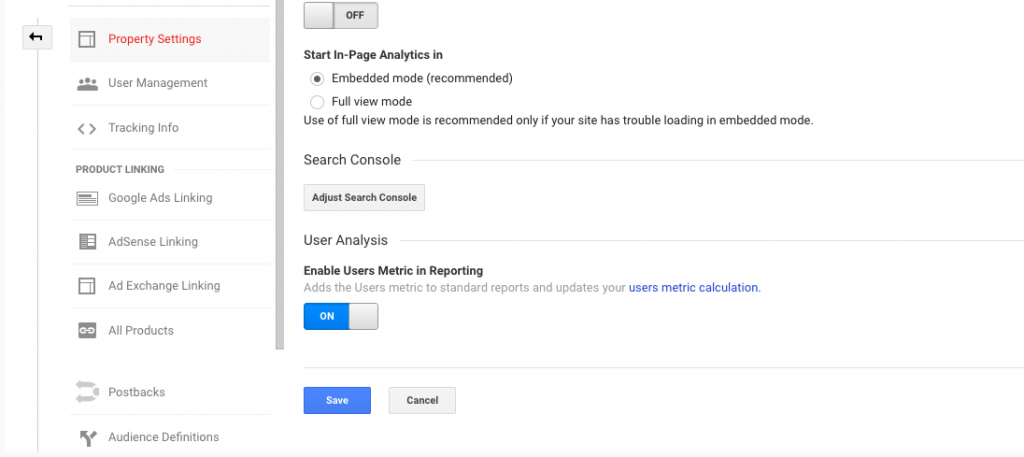 Configure Google Analytics Search Console data
