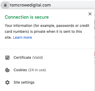 SSL connection is secure